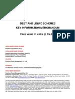 Combined KIM for Liquid & Debt Schemes