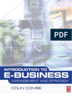 Introduction to E-Business - Management and Strategy
