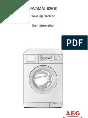 Aeg Assistenza Clienti.Aeg Washing Machine Manual Washing Machine Ac Power
