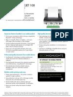 HP OJ 100 Mobile Printer