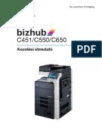 Magyar nyelvu kezelesi utmutato FE2 a Konica Minolta BIZHUB C451 C550 C650