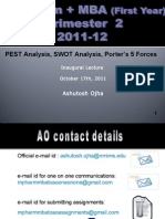 M Pharm+MBA PEST,SWOT,Porter's5 Forces,October 17th