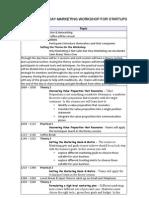 1 Day Marketing Workshop Agenda v3