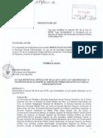 Proyecto de Ley de Inclusión a la Ley Universitaria a la ESFAP Carlos Baca Flor