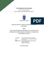 Modelo de regresión en la estimación de rendimientos en procesos de construcción, comparación con PERT