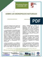 SOBRE LOS MONOPOLIOS NATURALES - ON NATURAL MONOPOLIES (Spanish) - MONOPOLIO NATURALEI BURUZ (Espainieraz)