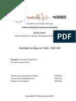 Relatório Destilador