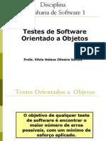 Engenharia de Software 1 - Aula 7 - Teste OO