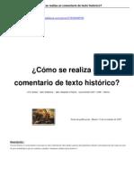 Comentario texto histórico