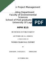 Term Paper_wood Charcoal