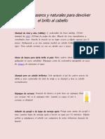 Remedios Caseros y Naturales Para Devolver El Brillo Al Cabello