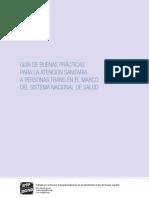 Guia de Boas Praticas para os cuidados de saude das pessoas trans no quadro do sistema nacional de saude