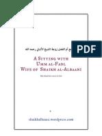A Conversation with Shaikh al-Albaani's Wife, Umm al-Fadl
