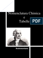 Nomenclatura Chimica e Tabelle