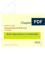 Basic Approach to Leadership Ch.12