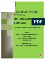 Beaubelle a Case Study in Organizational Behavior