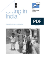 Giving in India. a Guide for Funders and Charities