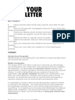 Write Your Cover Letter