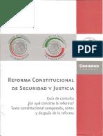 Reforma Constitucional de Seguridad y Justicia