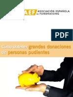 Cómo obtener grandes donaciones  de personas pudientes
