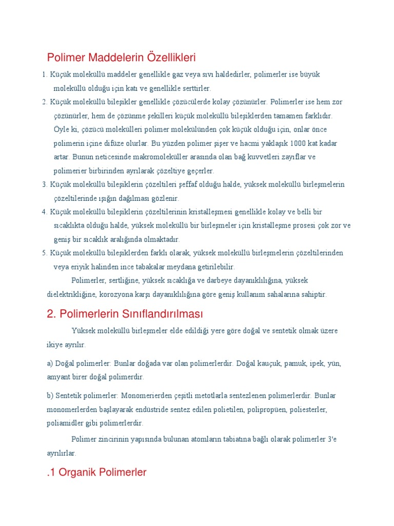 Sentetik polimerler
