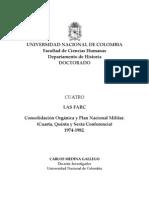 Las FARC-EP. Consolidacion Orgánica y Plan Nacional Militar (1974-1982)