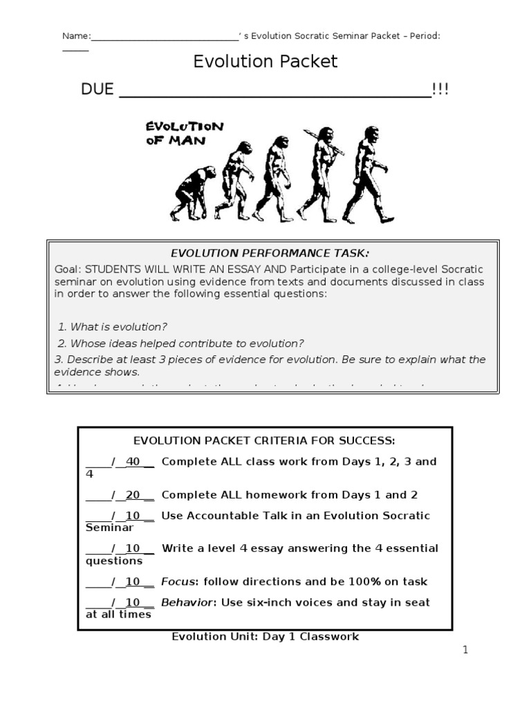 Evolution Packet Final | Mutation | Evolution