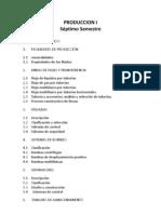 Programas Produccion i,II,III