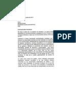 Carta de renuncia de Salomón Lerner Ghitis a la PCM
