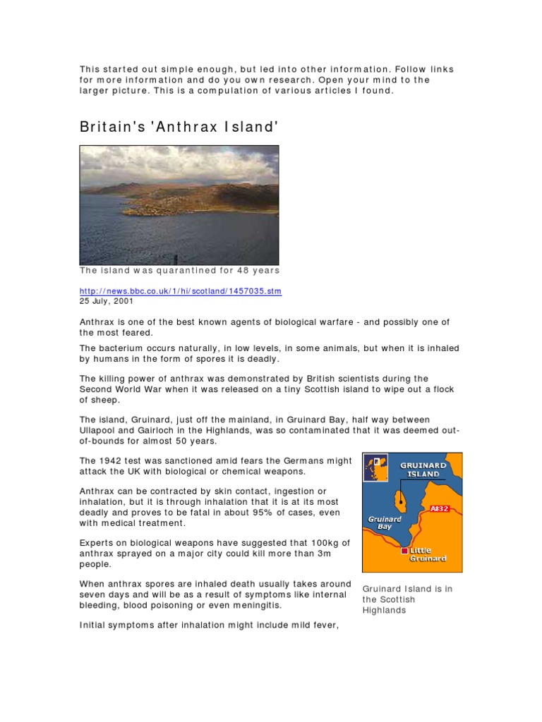 British plan to defeat Germany with anthrax