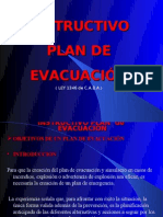 INSTRUCTIVO PLAN DE EVACUACIÓN