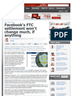 Facebook's FTC Settlement Won't Change Much, If Anything