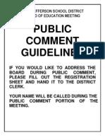 Open Forum Sheet