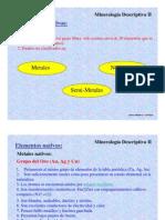 Mineralogia descriptiva II