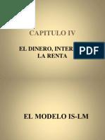 CAPITULO IV El Dinero, Interes y La Renta