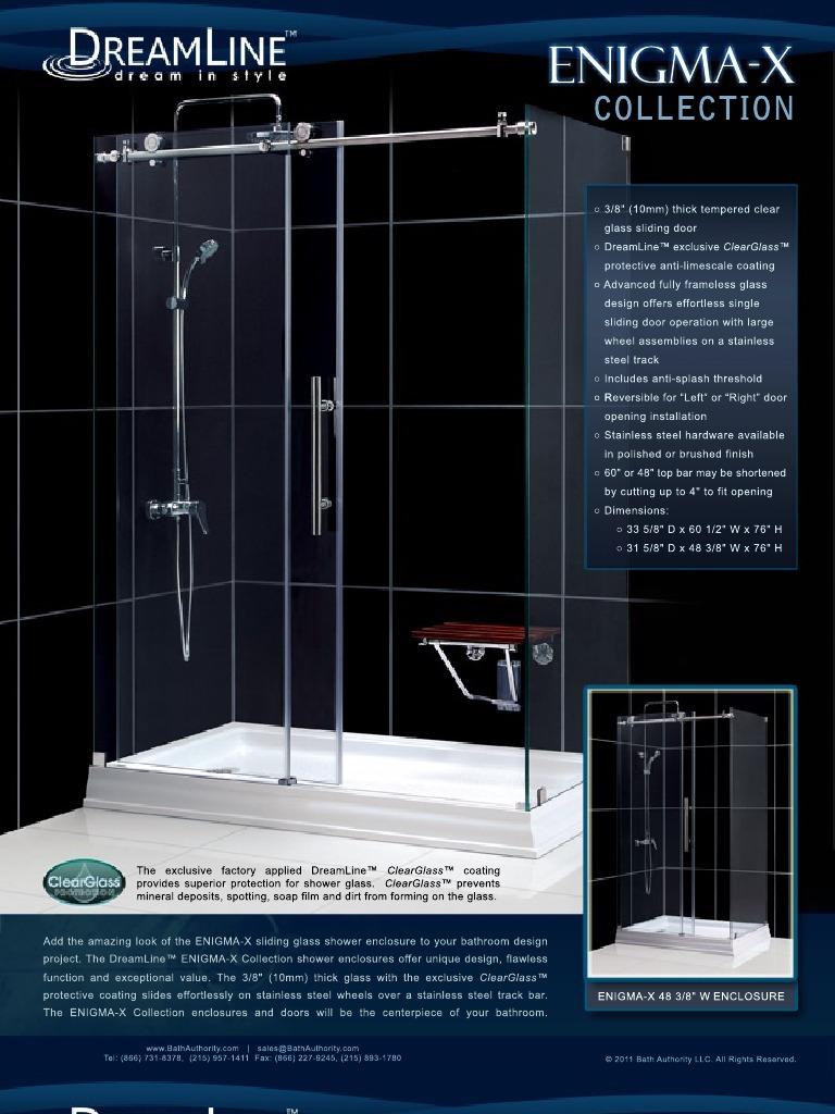 Dream Line Showers Shower Doors Enigma X