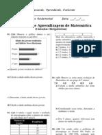 Atividade de Matemática 9º Ano (1)