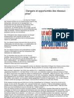 Le Média Humain - Dangers Et Opportunités Des Réseaux Sociaux Pour L' Entreprise