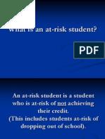 At Risk PPT
