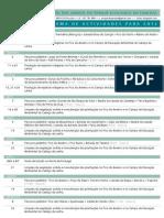 AAPEF - Programa de Actividades para 2012