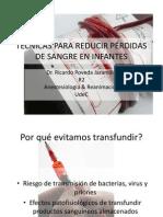 TÉCNICAS PARA REDUCIR PÉRDIDAS DE SANGRE EN INFANTES
