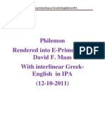 Philemon Greek English IPA 12-10-2011