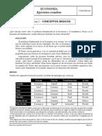 Ejercicios resueltos Economía 1º - Tema 1