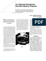 Chronic adrenal hematoma associated with splenic rupture