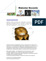 MALESTAR DOCENTE