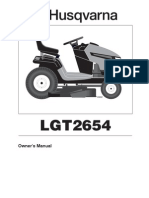Husqvarna LGT2654 Mower Owner Manual