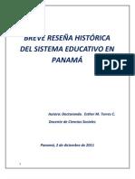 Reseña Histórica de la Educación en Panamá