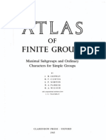 J.H. Conway, R.T. Curtis, S.P. Norton, R.A. Parker and R.A. Wilson - Atlas of Finite Groups