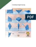 Langkah-langkah Membuat Origami Burung