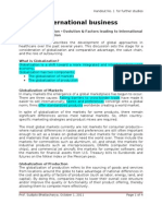 Handout 1 - Evolution & Factors in IB & Globalization
